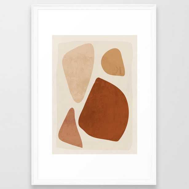 """Abstract Shapes 47 Framed Art Print_ Large (gallery) - 26"""" X 38""""_ Scoop White Frame - Society6"""