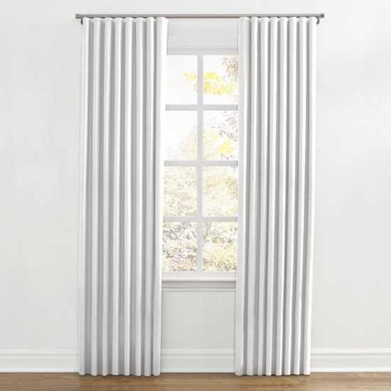 Custom Ripplefold Drapery- White Linen, Unlined - Loom Decor