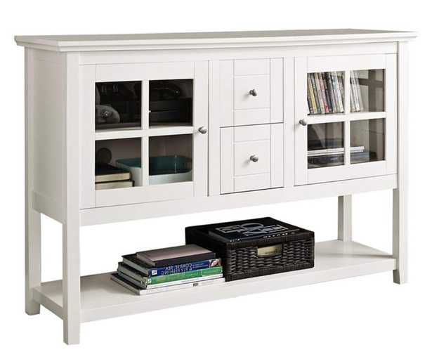 """Robson 52"""" Wide White Wood 2-Drawer TV Stand Buffet - Style # 90M96 - Lamps Plus"""