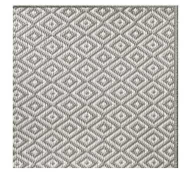 Diamond Dot Synthetic Rug, 10 x 8', Light Gray - Pottery Barn