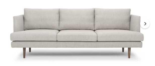 """Breanna 84"""" Recessed Arm Sofa - Wayfair"""