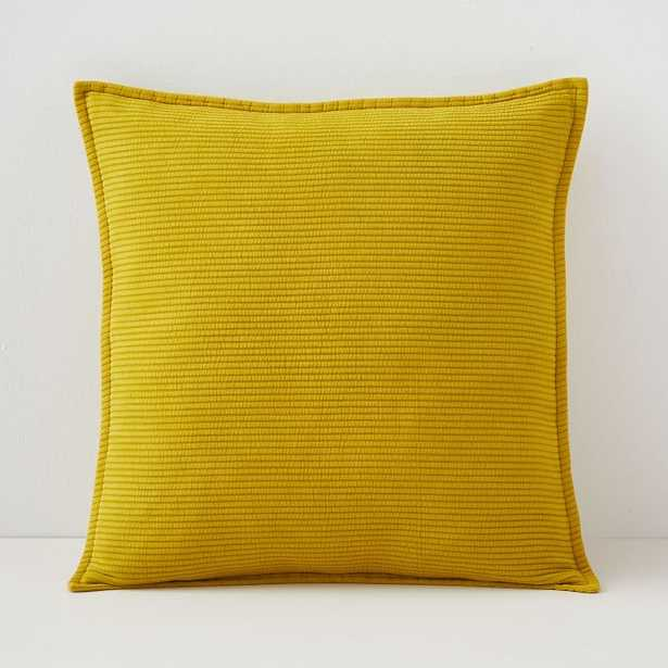 Solid Ribbed Pillow Cover, Horseradish, 20x20 - West Elm