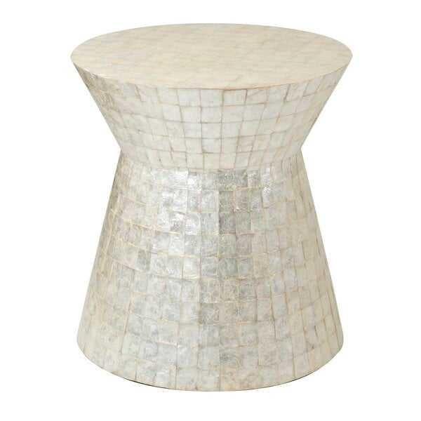 Abbie Solid Wood Drum End table - Wayfair