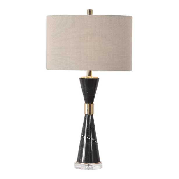 Alastair Black Marble Hourglass Table Lamp - #27886 - Hudsonhill Foundry