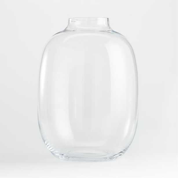 """Laurel Round Clear Vase 16"""" - Crate and Barrel"""