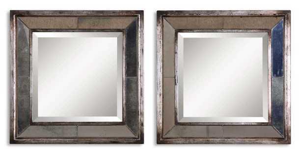 Davion Squares Silver Mirror Set/2 - Hudsonhill Foundry
