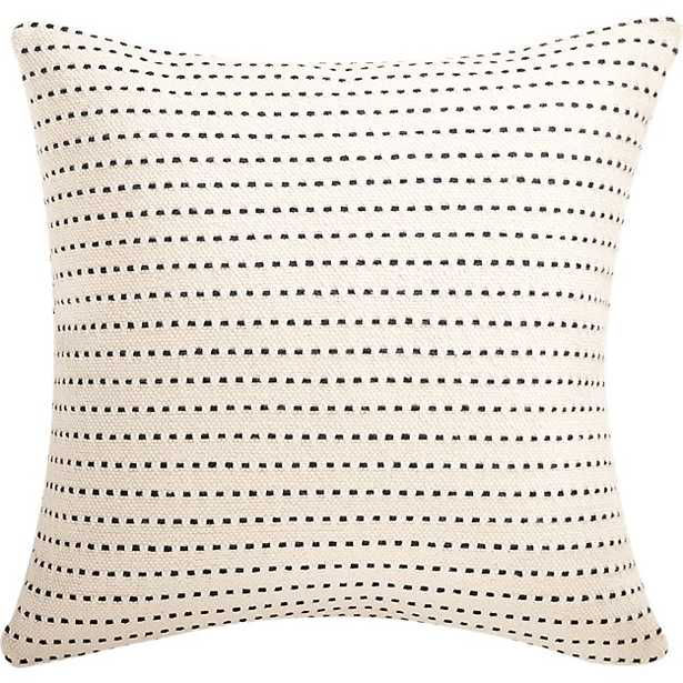 """20"""" clique white pillow with feather-down insert - CB2"""