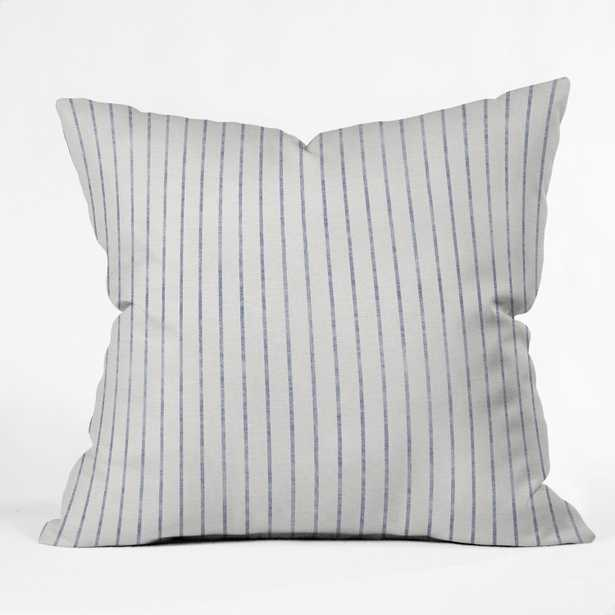 """THROW PILLOW AEGEAN WIDE STRIPE  BY HOLLI ZOLLINGER // 20"""" x 20"""" // Pillow Cover with Insert - Wander Print Co."""