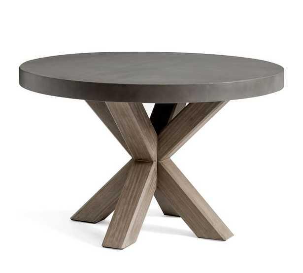 Abbott Round Dining Table, Gray Wash - Pottery Barn