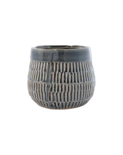 EMBOSSED ROUND VASE - SHORT - McGee & Co.
