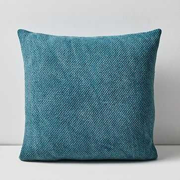 """Outdoor Garment Washed Pillow, 20""""x20"""", Mineral Blue - West Elm"""