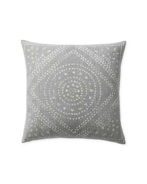"""Camille Diamond Medallion 20""""SQ. Pillow Cover - Smoke - Insert sold separately - Serena and Lily"""