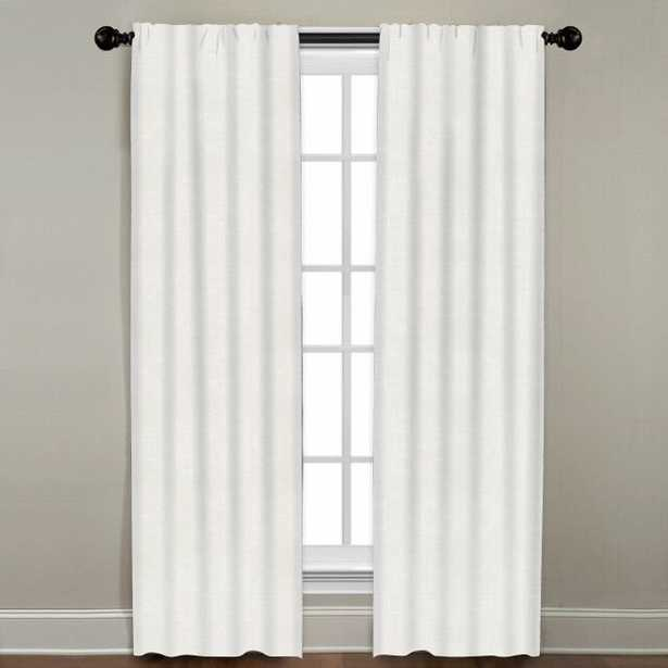 """Linen Drapery Single Panel, Oyster, 96"""" - Havenly Essentials"""