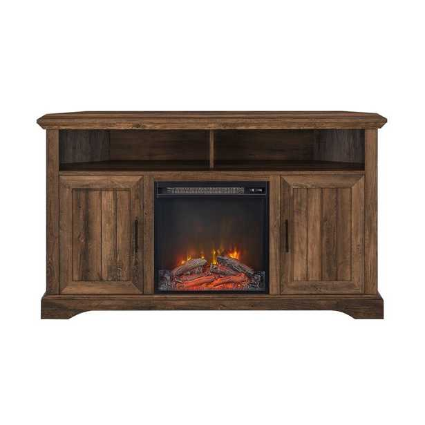 """Ramah TV Stand for TVs up to 60"""" with Fireplace Included - Wayfair"""