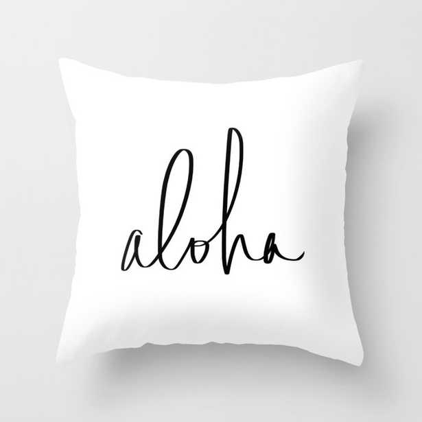 Aloha Hawaii Typography Throw Pillow  by Leah Flores - Society6