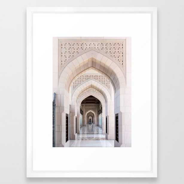 Symmetrical Arched Doorway in Muscat, Oman Framed Art Print - Society6