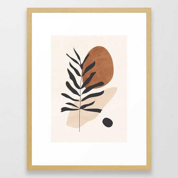 Abstract Art /Minimal Plant 12 Framed Art Print - Society6