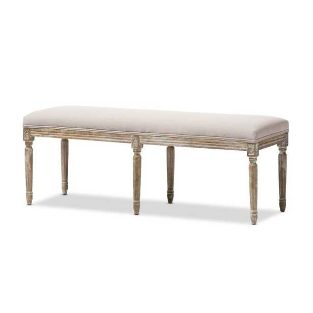 CLAIRETTE TRADITIONAL FRENCH BENCH - Lark Interiors