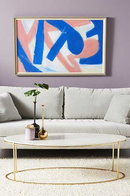 """Leavenworth Oval Marble Coffee Table 52"""" - Anthropologie"""