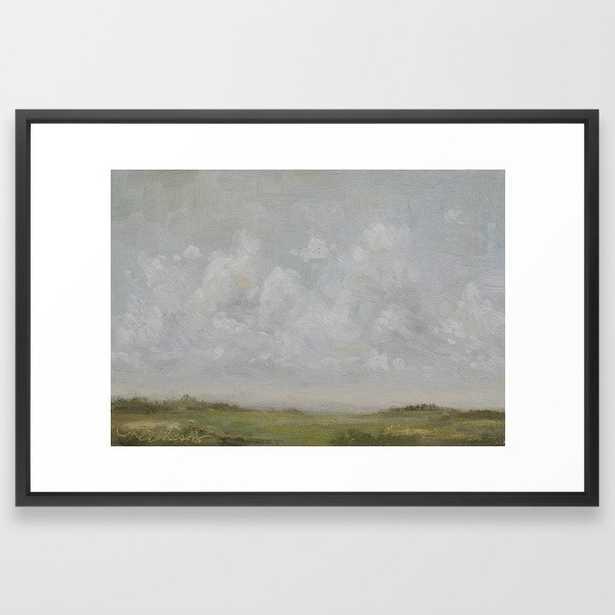 landscape color study Framed Art Print - Vector Black - 26 x 38 - Society6