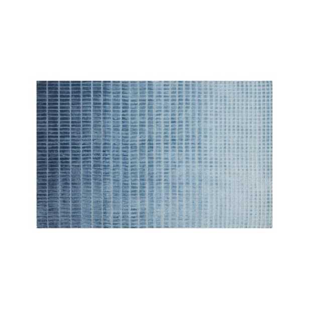 Blue Ombre 5x8' Viscose Rug - Crate and Barrel