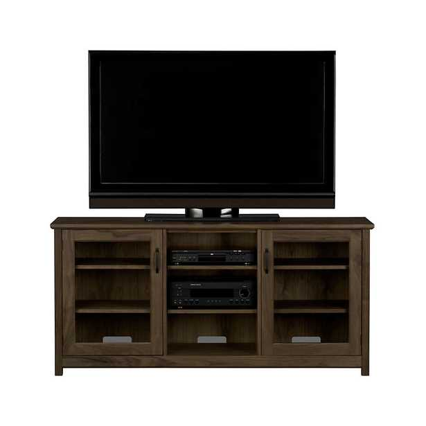 """Ainsworth Walnut 64"""" Media Console with Glass/Wood Doors - Crate and Barrel"""