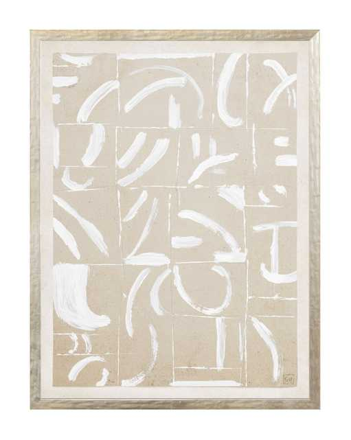 """BEIGE ABSTRACT 7 Framed Art - 13"""" W x 17"""" H - McGee & Co."""