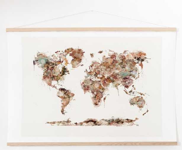 WORLD MAP WATERCOLOR - Wander Print Co.