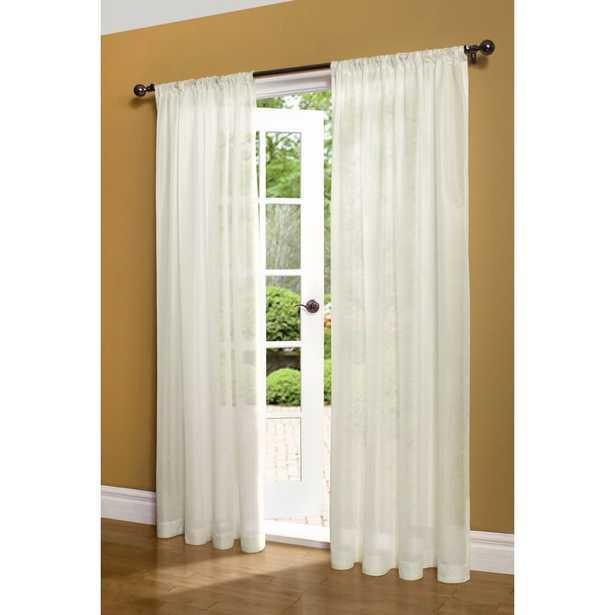 Vanita Solid Semi-Sheer Thermal Rod Pocket Single Curtain Panel - Wayfair