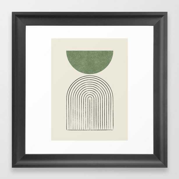 Arch balance green Framed Art Print - Society6