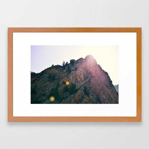 Sunshine on the Rocks Framed Art Print - Society6