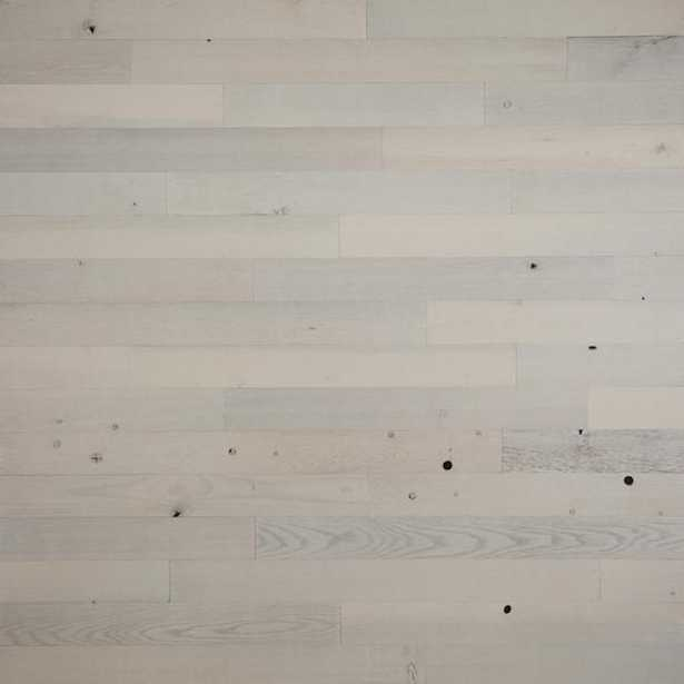 Peel and Stick White Wooden Decorative Wall Paneling (40 sq. ft./Box) - Home Depot