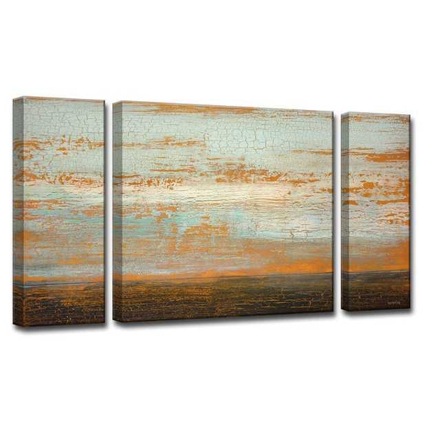 'Desert Flats' by Norman Wyatt Jr. 3 Piece Wrapped Canvas Painting Print Set - Wayfair