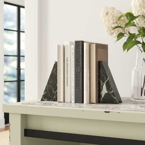 Marble Non Skid Bookends, set of 2 - Wayfair