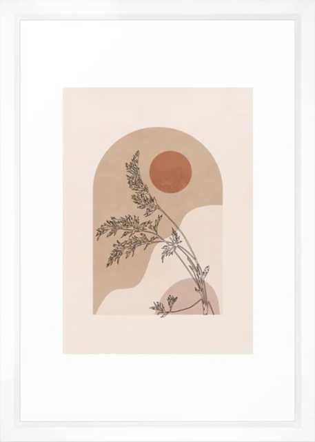 Minimal Abstract Art Landscape 15 Framed Art Print - Society6