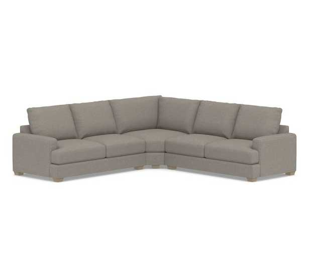 Pearce Square Arm Upholstered 3-Piece L-Sectional with Wedge - Pottery Barn