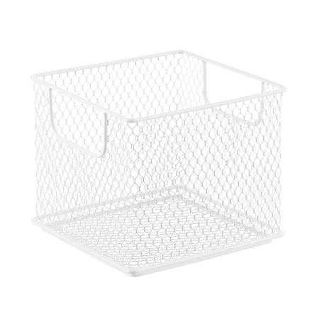 Small Omaha Stacking Bin White - containerstore.com