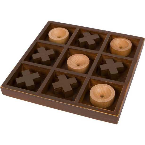 Wooden 10 in. Tic Tac Toe Desk Top Table Game - Wayfair