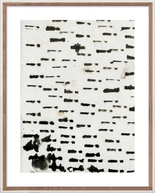 "Wabi Sabi 16-01 - 28"" x 36"" - Distressed Cream Double Bead Wood Frame - Artfully Walls"