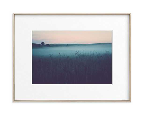 Mystery - Gray Sea - Matte Brass Frame - Minted