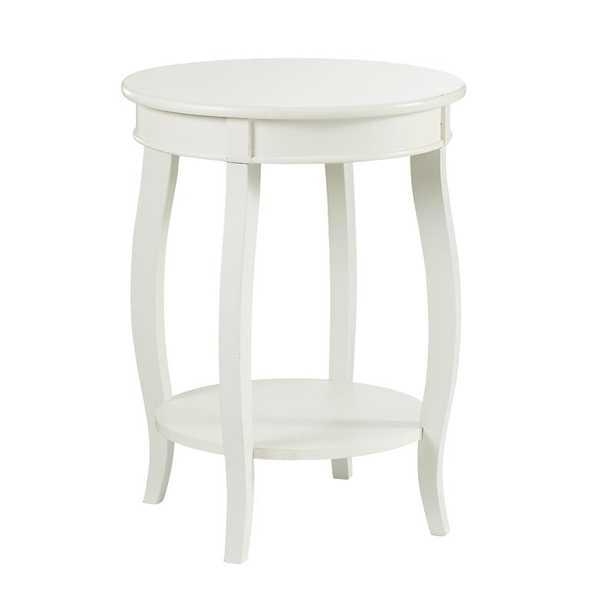 White Callan End Table with Storage / White - Wayfair