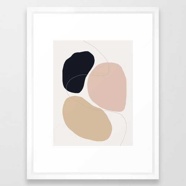 """ABSTRACT ART Framed Art Print, 20"""" x 26"""" Vector White - Society6"""
