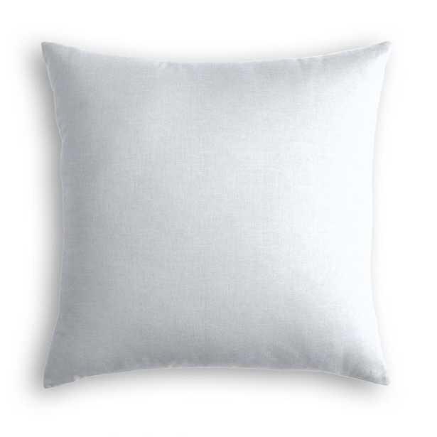Pale Blue Classic Linen Throw Pillow - Linen & Seam