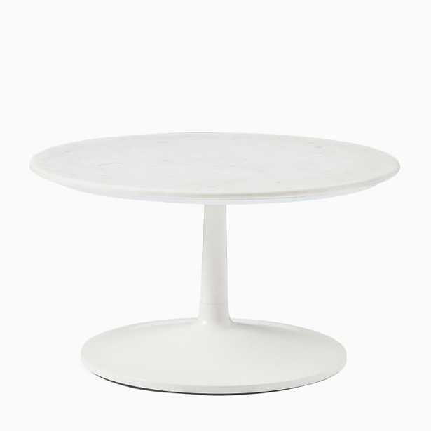 Liv Coffee Table - White Marble - West Elm