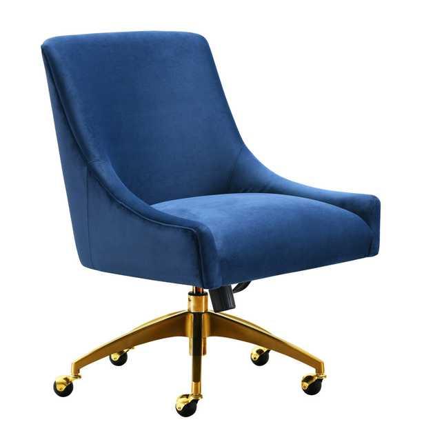 Livia Swivel Chair, Navy - Studio Marcette