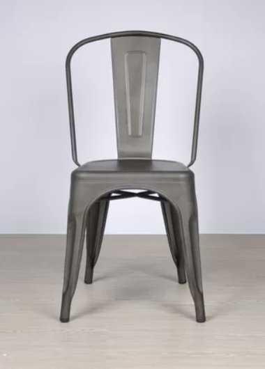 Outdoor Metal Dining Chair, Stackable, Set of 2 - Wayfair