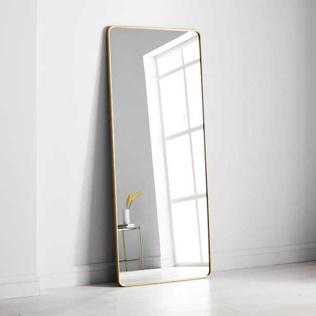 Modern Streamline Floor Mirror - West Elm