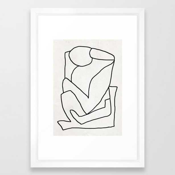 """Abstract Line 2 - 15"""" x 21"""" - vector white - Society6"""