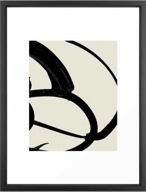 Mono Brush 1 Framed Art Print - Society6