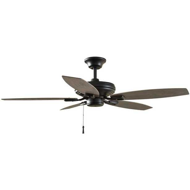 Hampton Bay North Pond 52 in. Indoor/Outdoor Matte Black Ceiling Fan - Home Depot